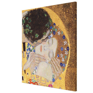 The Kiss 1907-08 Gallery Wrap Canvas