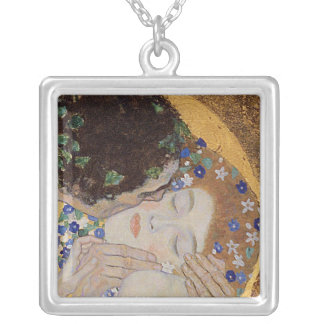 The Kiss, 1907-08 Silver Plated Necklace