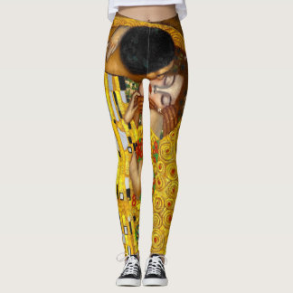 The kiss , art by Klimt Goustav Leggings