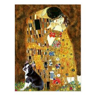 The Kiss - Boston Terrier 4 Postcards