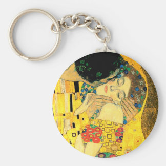 The Kiss by Gustav Klimt Art Nouveau Key Ring