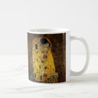 The Kiss by Gustav Klimt Basic White Mug