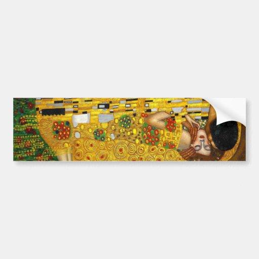The Kiss By Gustav Klimt Bumper Sticker