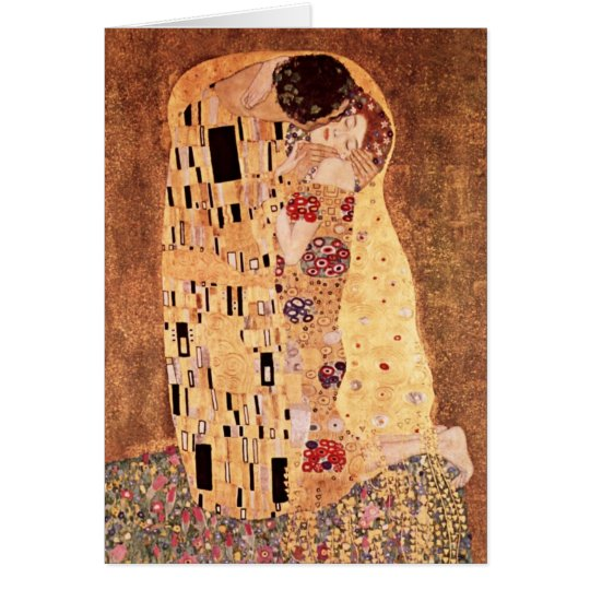 The Kiss by Gustav Klimt Card
