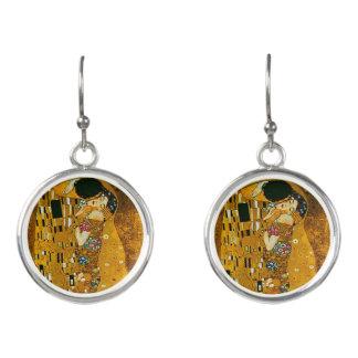 The Kiss by Gustav Klimt - Dangle Earrings