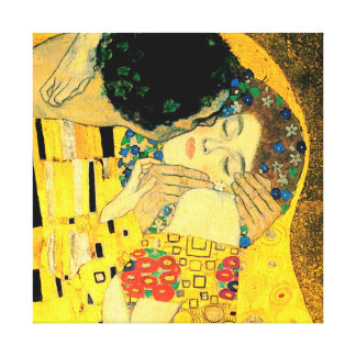 The Kiss by Gustav Klimt Fine Art Canvas Print