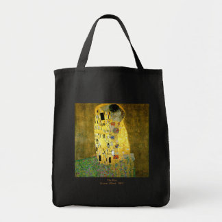 The Kiss by Gustav Klimt Grocery Tote Bag