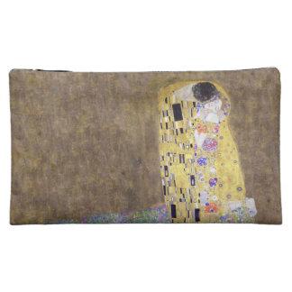 The Kiss by Gustav Klimt Honeymoon Makeup Bags