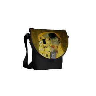 The Kiss by Gustav Klimt Messenger Bags