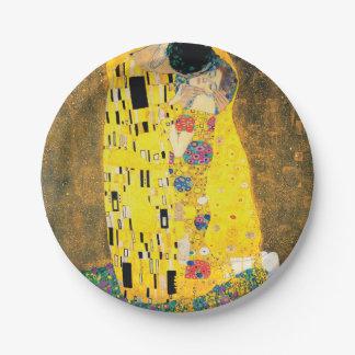 The Kiss by Gustav Klimt Paper Plate