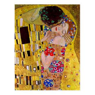 The Kiss by Gustav Klimt Postcard