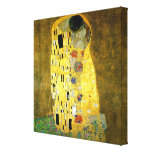 The Kiss by Gustav Klimt Stretched Canvas Prints