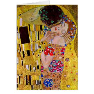 The Kiss by Gustav Klimt, Vintage Art Nouveau Greeting Card
