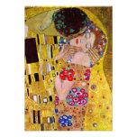 The Kiss by Gustav Klimt, Vintage Art Nouveau Personalized Announcement