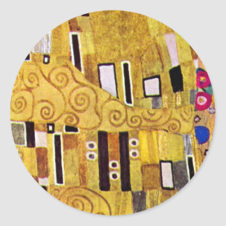 The Kiss by Gustav Klimt Vintage Art Nouveau Sticker