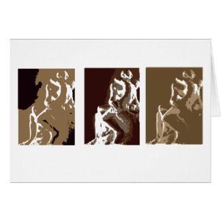 The Kiss by Rodin Greeting Card