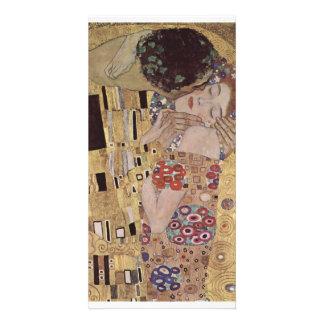 The Kiss Detail - Gustav Klimt Photo Greeting Card