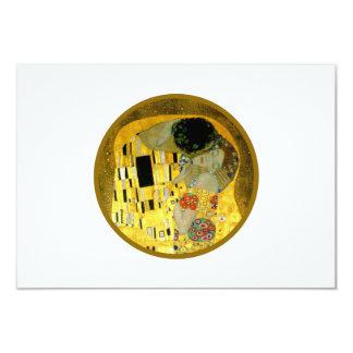 "The Kiss Gustav Klimt Wedding | RSVP Card 3.5"" X 5"" Invitation Card"