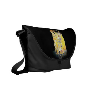 The Kiss Gustav Klimt Yellow Digital Painting Courier Bag