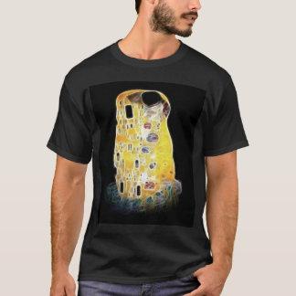The Kiss Gustav Klimt Yellow Digital Painting T-Shirt