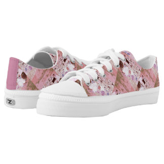 The Kiss in Pinks Low Tops