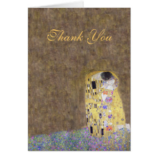 The Kiss Klimt Thank You Golden Anniversary Card