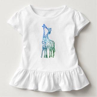 The kiss of the giraffes Tutu RufleTee Toddler T-Shirt