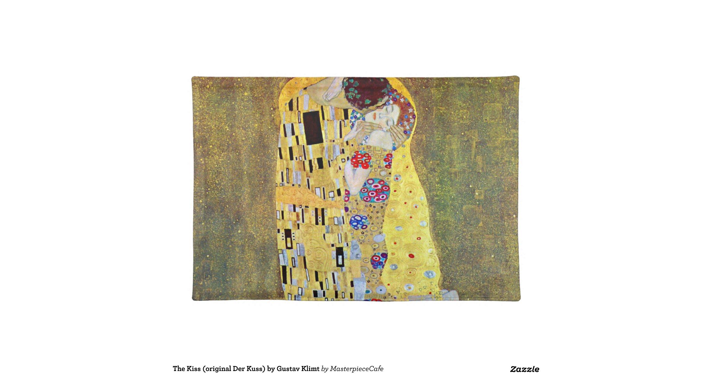 the kiss original der kuss by gustav klimt place mats. Black Bedroom Furniture Sets. Home Design Ideas