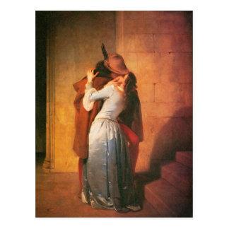 The Kiss Postcard by Francesco Hayez