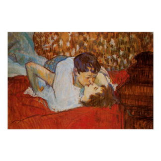 The Kiss - Poster by Henri de Toulouse-Lautrec
