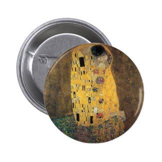 The Kiss, ,reproduction,Gustav Klimt painting,art 6 Cm Round Badge