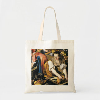 The Kitchen in detail by Vincenzo Campi Budget Tote Bag
