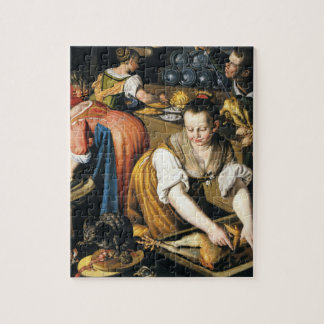 The Kitchen in detail by Vincenzo Campi Jigsaw Puzzles