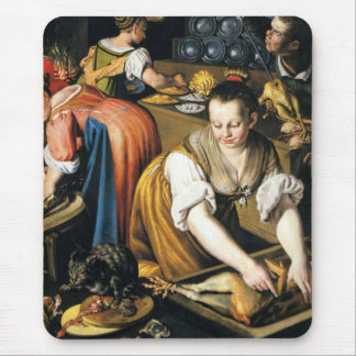 The Kitchen in detail by Vincenzo Campi Mouse Pad