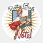 The Kitsch Bitsch : 1950's Prett Girls Vote! Round Sticker