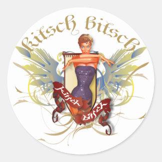 The Kitsch Bitsch Bathing Beauty Tattoo Pin-Up Round Sticker