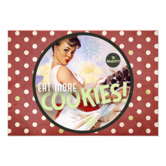 The Kitsch Bitsch Be Naughty Eat More Cookies Invitation
