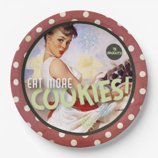 The Kitsch Bitsch™ : Be Naughty! Eat More Cookies! Paper Plate