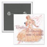 The Kitsch Bitsch : Bride's Entourage! 15 Cm Square Badge