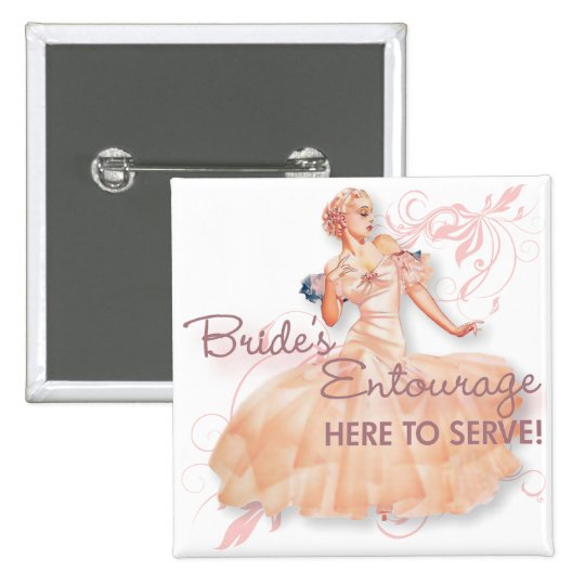 The Kitsch Bitsch : Bride's Entourage! 15 Cm Square Badge