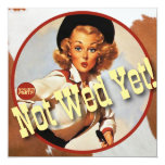 The Kitsch Bitsch : Cowgirl Not Wed Yet! Personalised Announcements