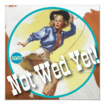 The Kitsch Bitsch : Cowgirl Not Wed Yet! Custom Announcements