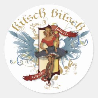 The Kitsch Bitsch : Dancing Doll Tattoo Pin-Up Round Sticker