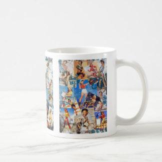 The Kitsch Bitsch : Destroyed Cowgirl Pin-Ups Basic White Mug