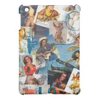 The Kitsch Bitsch : Destroyed Cowgirl Pin-Ups No.2 iPad Mini Covers