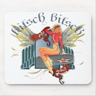 The Kitsch Bitsch : Fly Girl Tattoo Pin-Up Mouse Pad