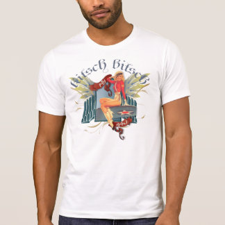 The Kitsch Bitsch : Fly Girl Tattoo Pin-Up T-Shirt