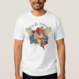 The Kitsch Bitsch : Fly Girl Tattoo Pin-Up Tshirt