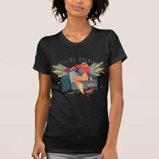 The Kitsch Bitsch : Fly Girl Tattoo Pin-Up Tee Shirt