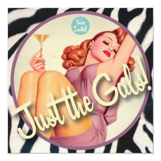 The Kitsch Bitsch : Just The Gals! 13 Cm X 13 Cm Square Invitation Card